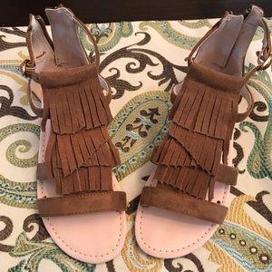 Other - Girls fringe sandals NWOT